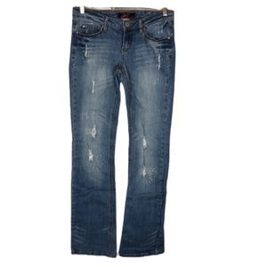 Garage Slim Flare Jeans Distressed Size 7